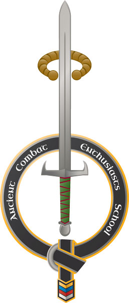 large ACES logo of sword and belt